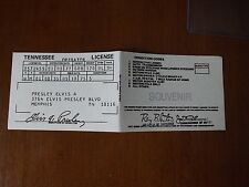 Souvenir Driver's License - Elvis Presley.