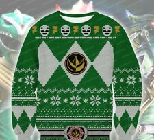 Green Ranger Knitting Pattern 3D Print Sweatshirt - Large, Brand New! Holiday