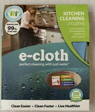 e-cloth Kitchen Cleaning Cloths Allergy Friendly Easy Clean 2 in package