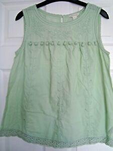 Ladies Monsoon Sleeveless Summer Top Size 12