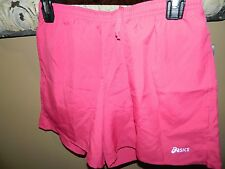 NEW ASICS Women's Performance Run 5-Inch Pocketed Shorts Pink Sz S