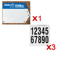 Custom Bicycle Number Plate Decals Road Bike Triathlon Race Competetion Plate