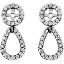 Diamond Earring Jackets In Platinum (1/3 ct. tw