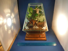 "Unusual Rare Vintage Ornate Glass Terrarium ""Somewhere My Love"" Music Box Gift!"