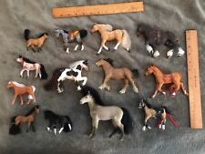 Toy Horses Lot of 13 Different Mixed Brands With Free Shipping