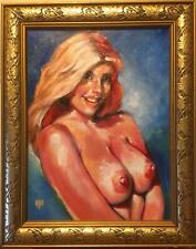 FRAMED Nude Oil Painting      Carol Ann