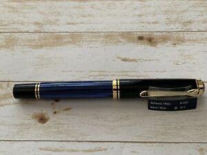 Pelikan Premium M800 Fountain Pen nib (B) Plume Noir/Blue