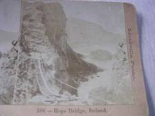 """Rope Bridge"" Ireland Early 1900's Stereo Card"