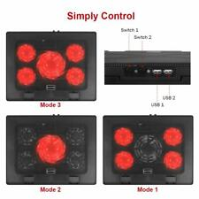 Kootek Laptop Cooling Pad 12-17 Cooler Pad Chill Mat 5 Quiet Fans LED Lights And