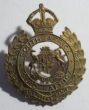 Vintage South Africa Engineers Genie Cap badge 1922 to 1926