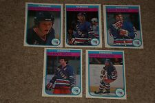 LOT OF (10) NEW YORK RANGERS 1980'S STARS SIGNED AUTOGRAPHED HOCKEY CARDS