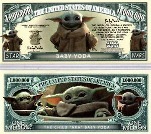The Child Baby Yoda-Star Wars Mandalorian TV Series Million Dollar Novelty Money