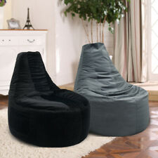 Bean Bag Chair Adults Kids Large Sofa Couch Cover Lazy Lounger No Filling Grey