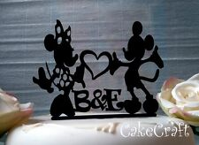 Acrylic initial Mickey Minnie Mouse wedding engagement cake toppers decorations