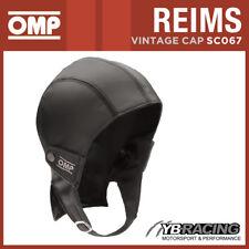 SC067 OMP REIMS VINTAGE LEATHER HELMET CAP FOR CLASSIC CAR DRIVER! SIZES S TO XL