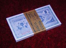 Macedonia 1992 10 Dinara Denari Full Bundle 100 pcs From Orig Brick P 1 *Rare