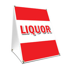 A-frame Sidewalk Sign Liquor With Graphics On Each Side