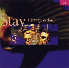 U2 CD PROMO USA - STAY - SILKENED BLUE PROMO RARE WITH BACK AND FRONT COVERS!!