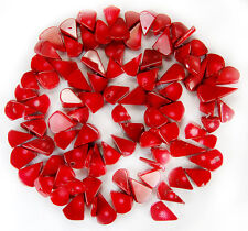 """12x16mm Red Coral Teardrop Beads 16"""""""