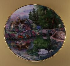 Stonebridge Cottage Plate Flowers Floral Swans Lovely!