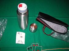Thermos ILSA nuovo con bicchiere, acciaio inox 18/10 cl.75, con custodia nera in