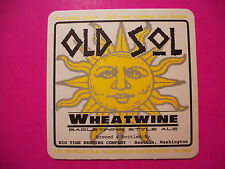 Beer Coaster: BIG TIME Brewing Old Sol Wheatwine Barleywine, Seattle, WASHINGTON