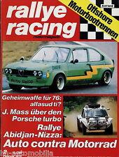 Rallye Racing 2/76 1976 Audi 80 GTE Porsche turbo RSR Rex Sp 1 Fiat 1283P Taunus