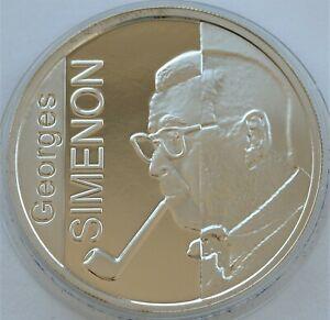 BELGIUM 10 EURO 2003 SIMENON GEORGE SILVER PROOF