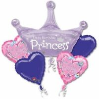 Anagram HAPPY BIRTHDAY PRINCESS Foil Balloon Bouquet 5 Balloons
