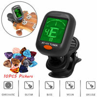 LCD Clip-on Electronic Digital Guitar Tuner For Guitar Violin Ukulele Picker