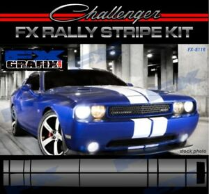 Dodge Challenger Rally Racing Stripe Kit Top Quality Stripes SRT8 Style Full Kit