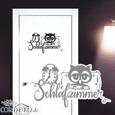 Türaufkleber Eulen Schlafzimmer Funny Wandtattoo Wandaufkleber Fun Decal Sticker