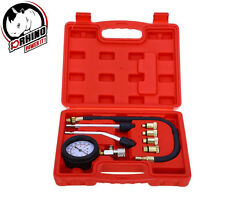 D-Rhino 8pc Petrol Engine Cylinder Compression Tester Kit Automotive Tool Gauge