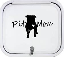 Pit Mom Pit Bull Pitbull Dog Black Decal Sticker A1182BK for Car Window Art