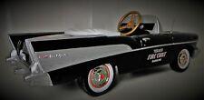 Chevy 1957 Pedal Car Fire Chief Vintage BelAir Hot Rod Sport Midget Metal Model