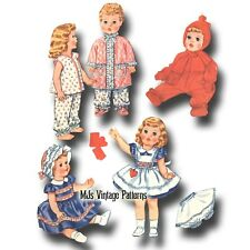 """Vtg Baby Doll Dress Pattern ~ 19"""" 20"""" 21"""" Toodles, Dy Dee Tiny Tears Betsy Wetsy"""