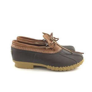 LL Bean Women's  Bean Tan/Brown Boots Rubber Moc Shoe Width W