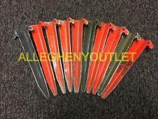 Lot of 10 USGI Metal 12in Full Pup Tent Stakes Various Colors & Styles VERY GOOD