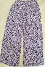 ATMOSPHERE 14 Vgc Black Coral Floral Wide Leg trousers Palazzo Pants