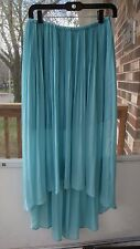Woman Skirts Lauren Conrad Hi-Low Polyester MAXI Skirt light blue size S