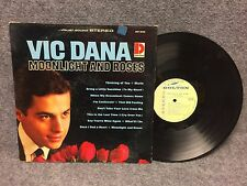 33 RPM LP Record Vic Dana Moonlight And Roses Dolton Records Stereo BST-8036