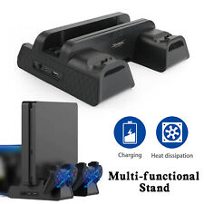 Cooling Fan Vertical Stand 2 in 1 Controller Charge Dock Fit For PS4 Pro/Slim