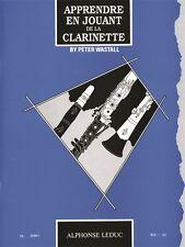 Peter WASTALL apprendre en jouant de la Clarinete libro de música clásica Clarinete