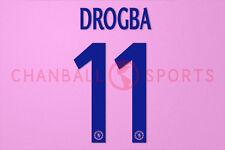 Drogba #11 2013-2014 Chelsea UEFA Champions League Awaykit Nameset Printing