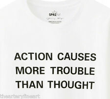 JENNY HOLZER x UNIQLO 'ACTION CAUSES MORE TROUBLE...' T-Shirt M Long-Sleeve NWT!