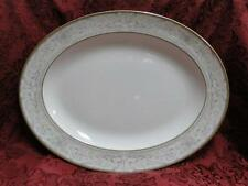 Royal Doulton Naples Gold, White w/ Taupe Scrolls: Oval Serving Platter, 13 5/8""