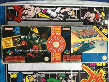 Super Nintendo SNES instinto asesino F Paquete doble cero Juego Con Manual En Caja