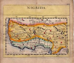 1681  Duval/Hoffman Map of West Africa