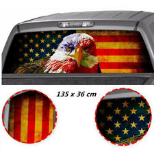 Waterproof American Flag Eagle Rear Window Tint Graphic Decal Truck Tailgate SUV