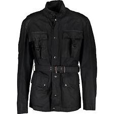 JOHN RICHMOND Waxed Jacket With Leather Panels IT50 RRP £1125 Belstaff Biker